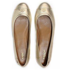Coach Chelsea Flats Shoes Gold